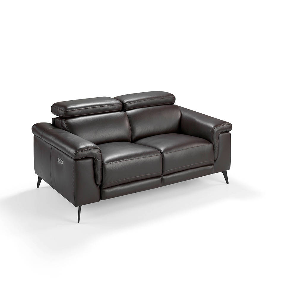 2-seat sofa upholstered in leather with 2 x electric...