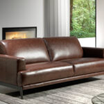 3 seat sofa upholstered in 2mm thick leather