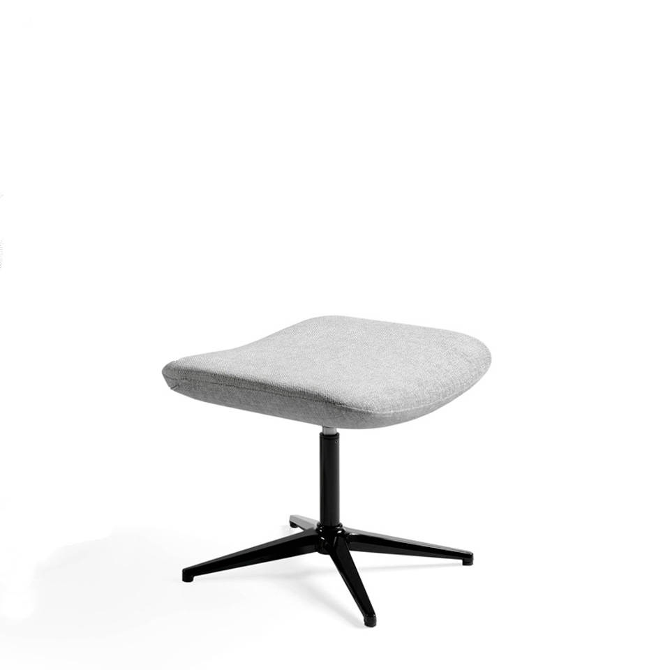 Swivel ottoman upholstered in fabric with steel structure