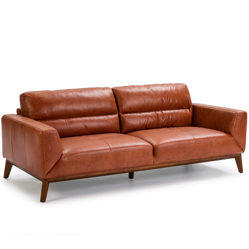 3 seat sofa made of 2mm thick cowhide leather