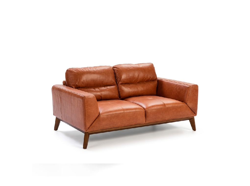 2 seat sofa made of 2mm thick cowhide leather
